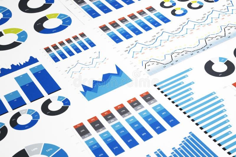 Красочные диаграммы дела стоковое изображение
