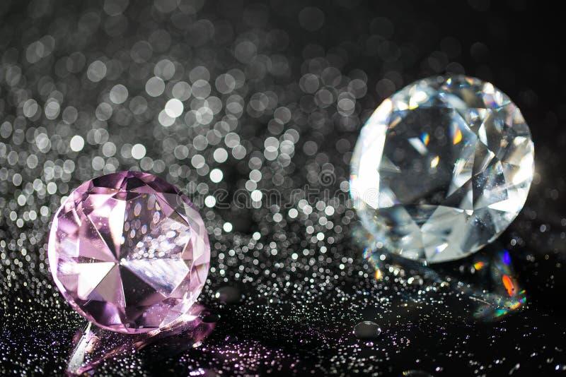 Красочные диаманты и предпосылка bokeh стоковые изображения rf