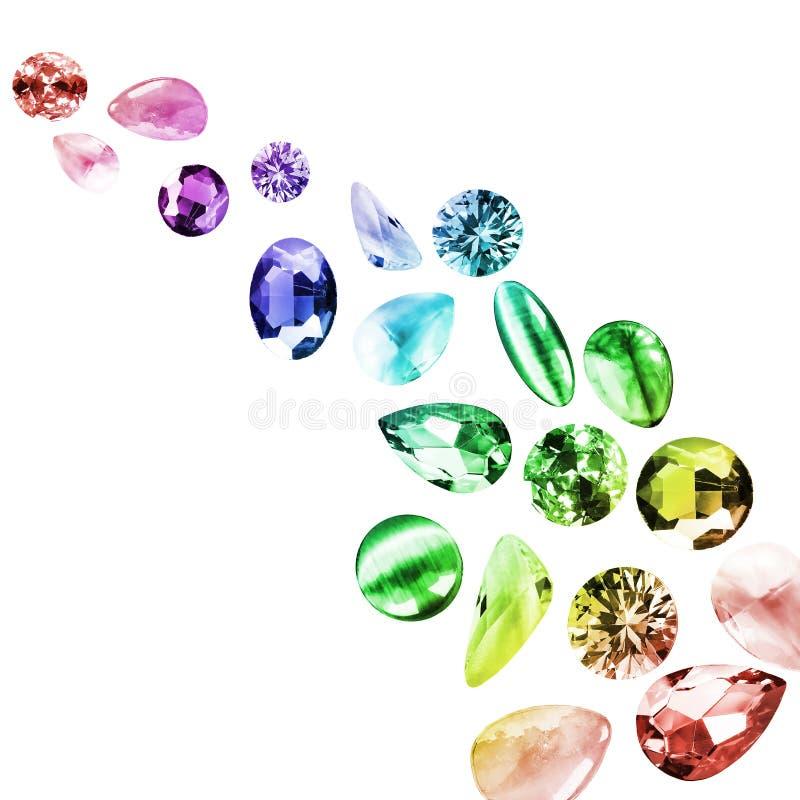 Красочные изолированные драгоценные камни бесплатная иллюстрация