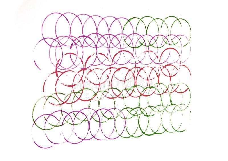 Красочные линии кругов стоковое изображение rf