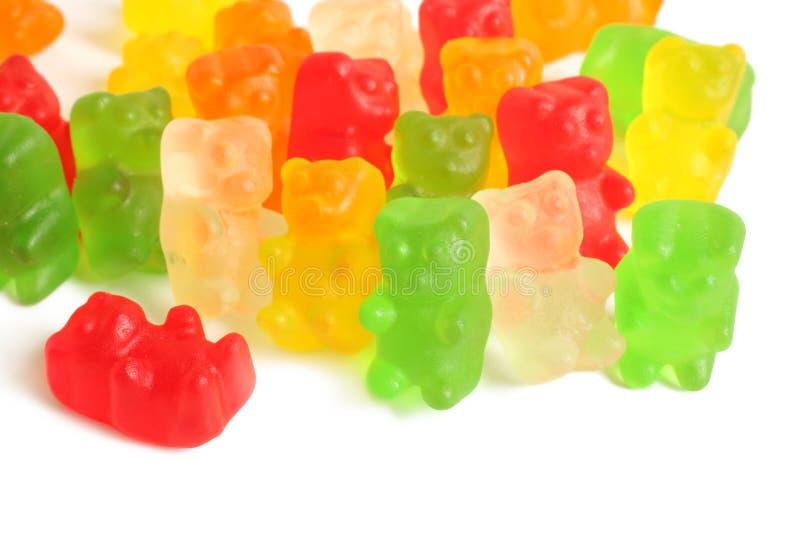 Красочные камедеобразные медведи стоковое фото rf