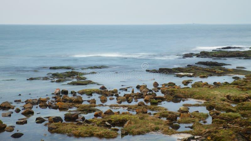 Красочные камни побережья лимана Клайд стоковая фотография
