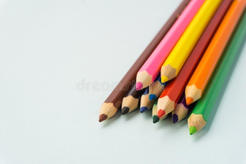 Красочные карандаши закрывают вверх стоковые фото
