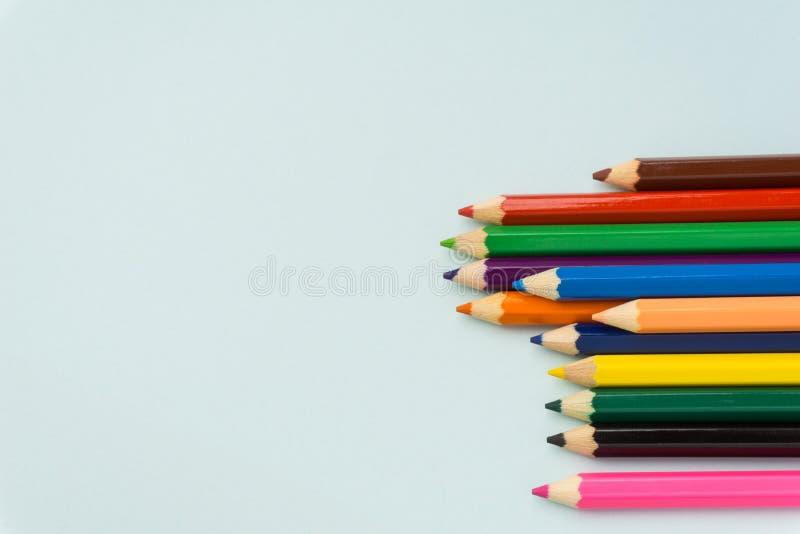 Красочные карандаши закрывают вверх стоковая фотография rf