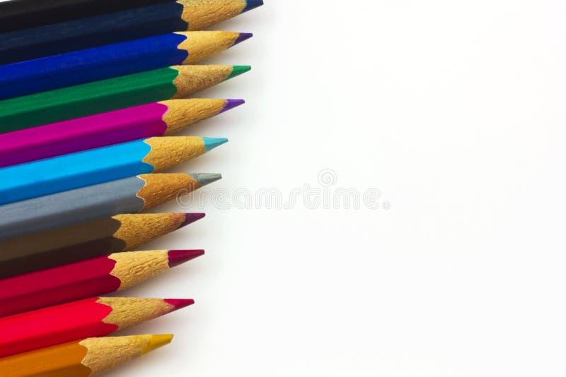 Красочные карандаши стоковое фото