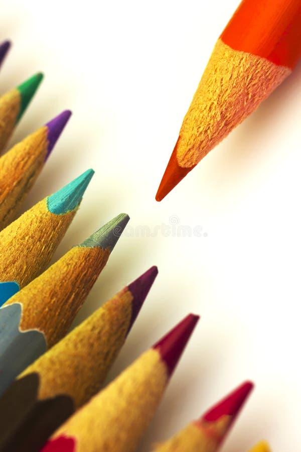 Красочные карандаши стоковые изображения rf