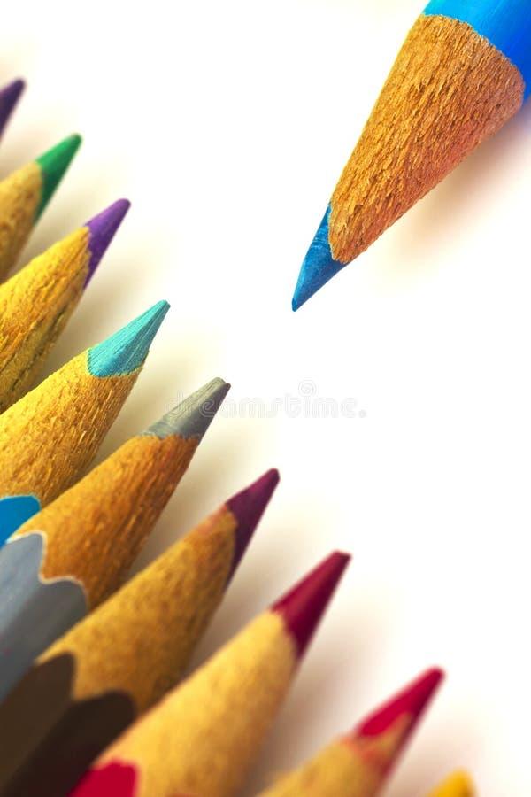 Красочные карандаши стоковые фотографии rf