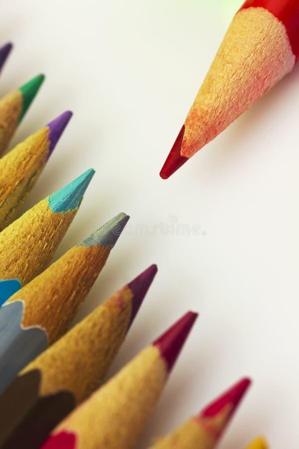 Красочные карандаши стоковое изображение rf