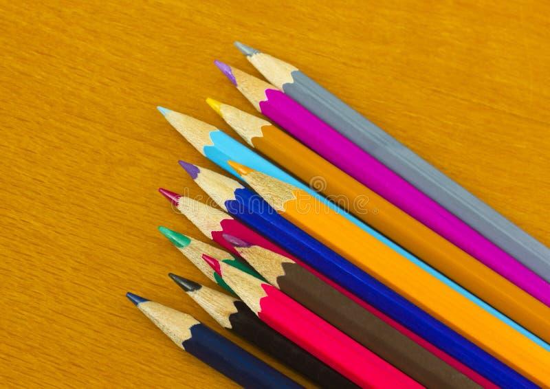 Красочные карандаши стоковое фото rf