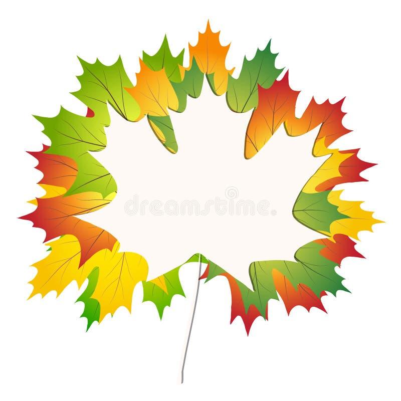 Красочные кленовые листы осени на задней части белой бумаги к иллюстрации вектора запаса предпосылки школы бесплатная иллюстрация
