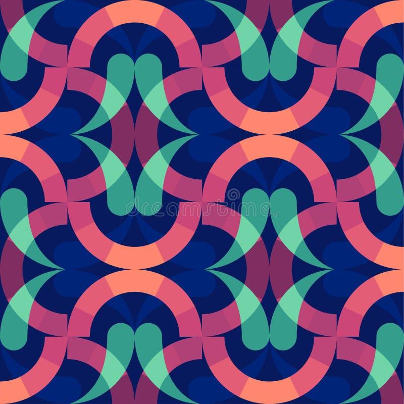 Красочные кольца предпосылки абстрактные обои Современный геометрический дизайн картины бесплатная иллюстрация