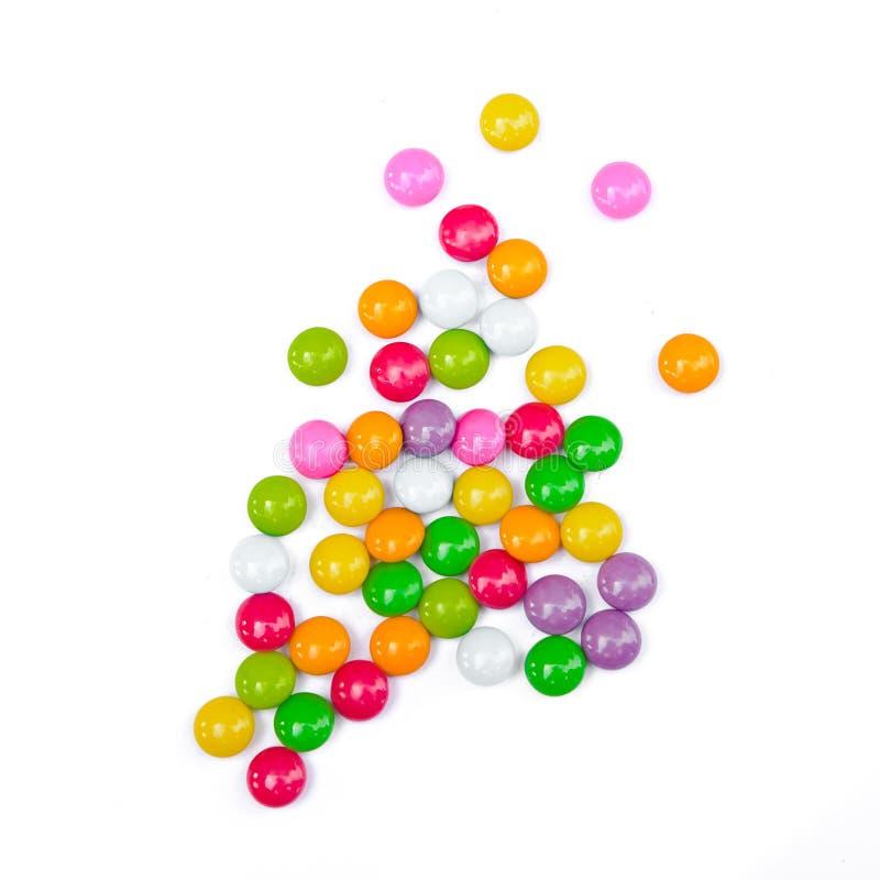 Красочные конфеты на белизне стоковая фотография rf