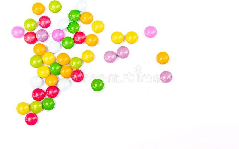 Красочные конфеты на белизне стоковые изображения rf