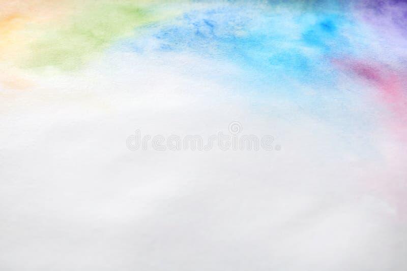 Красочные краски на бумаге E стоковые фотографии rf