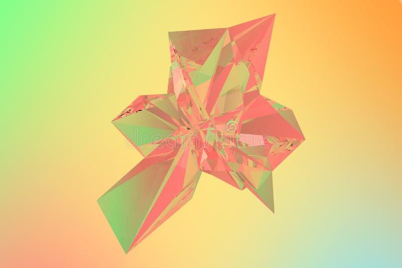 Красочные кристаллические обои предпосылки стоковые изображения rf