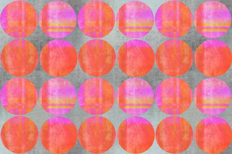 Красочные круги текстурируют розовый оранжевый серый цвет стоковое изображение rf