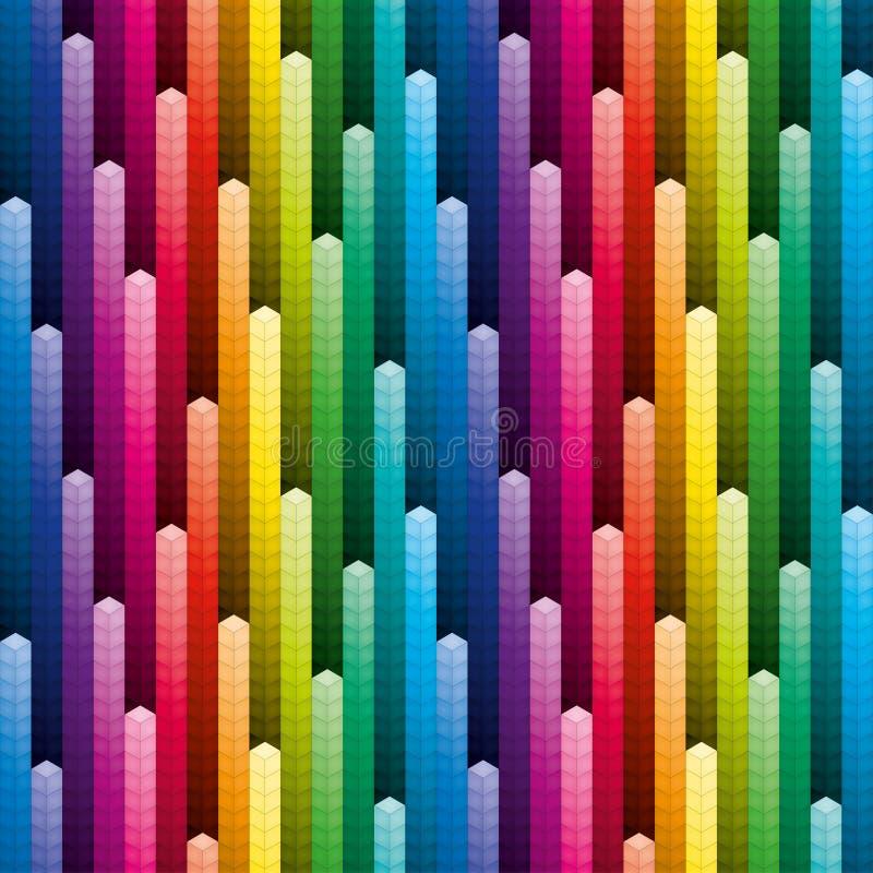 Красочные кучи предпосылки кубов иллюстрация вектора