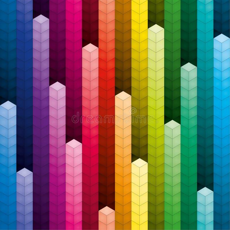Красочные кучи предпосылки кубов бесплатная иллюстрация