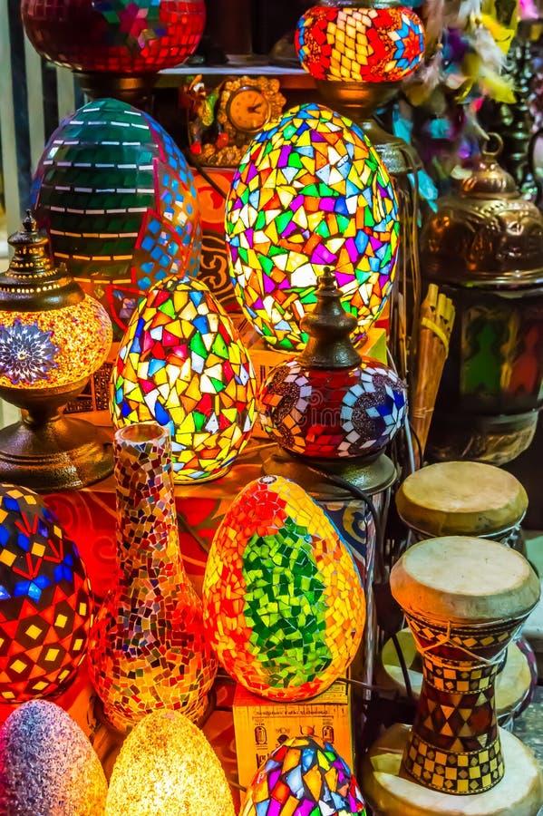 Красочные лампы разбрасывать-мозаики стоковые изображения rf