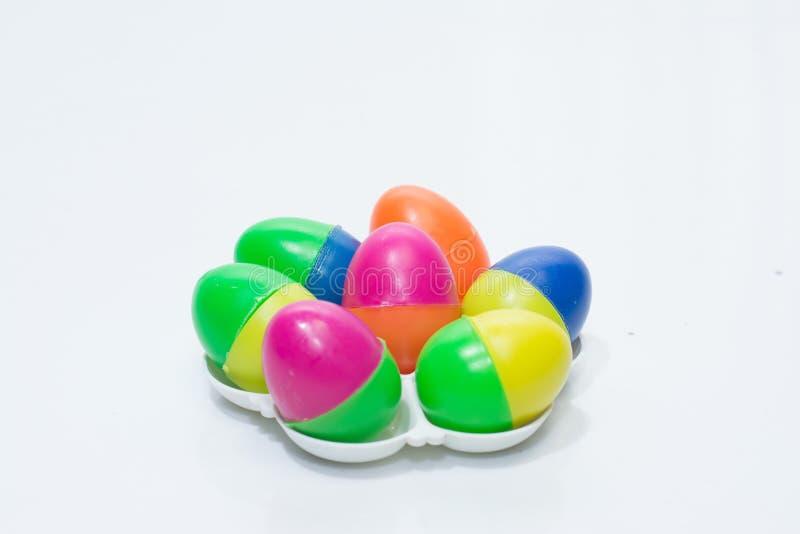 красочные мини пластичные яичка стоковые фотографии rf