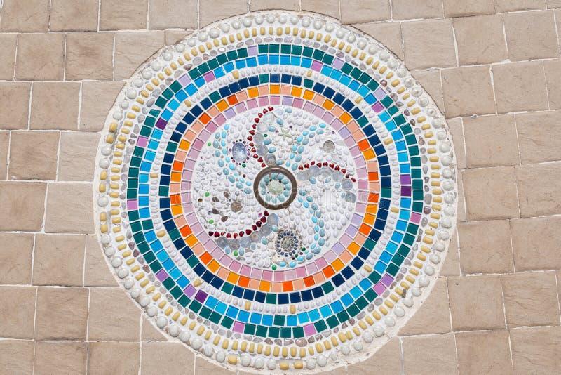 Красочные настил или стены мозаики стоковые изображения rf