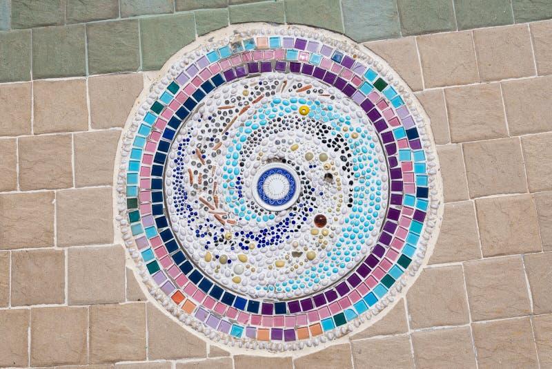 Красочные настил или стены мозаики стоковая фотография