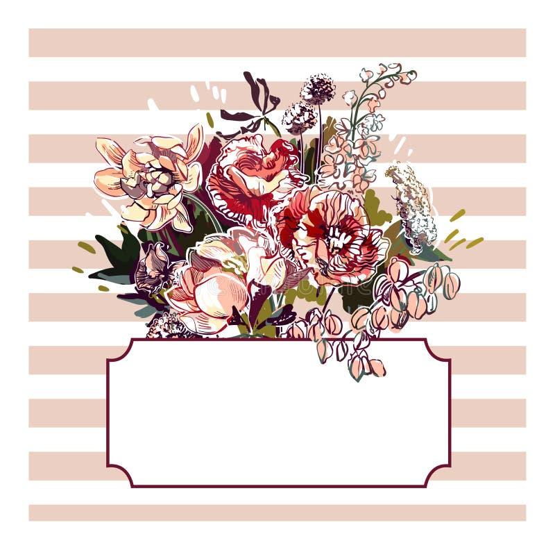 Красочные обои украшения картины искусства цветка дизайна вектора бесплатная иллюстрация