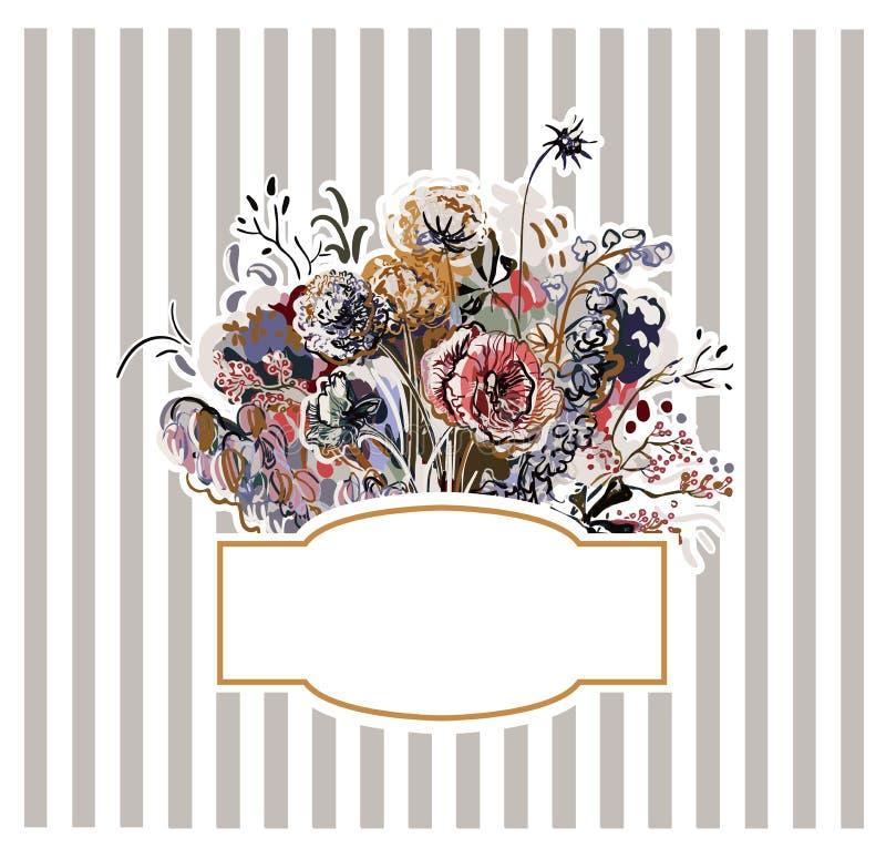 Красочные обои украшения картины искусства цветка дизайна вектора иллюстрация вектора
