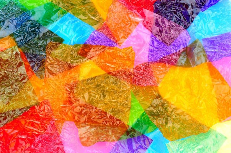 Красочные оболочки помадки целлофана стоковая фотография