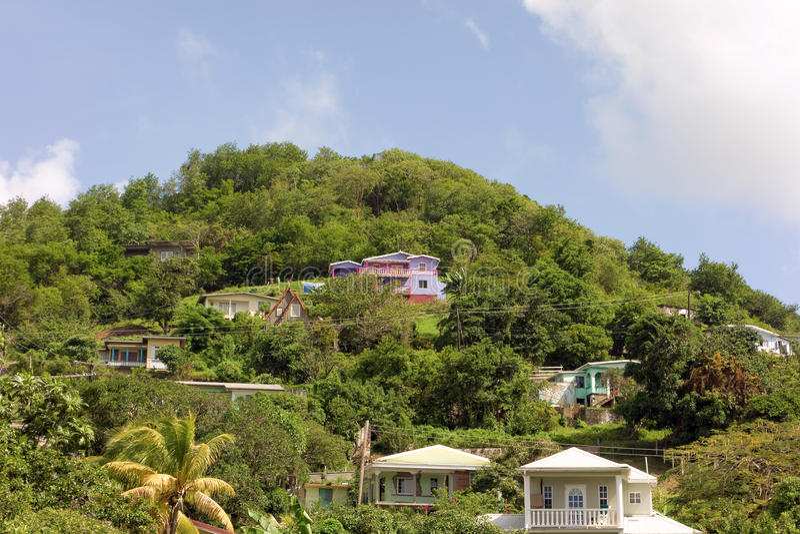 Красочные дома в Вест-Инди стоковая фотография rf
