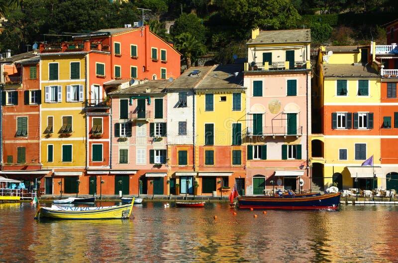Красочные дома в Portofino, Италии стоковая фотография rf