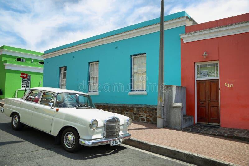 Красочные дома Bo Kaap стоковая фотография rf