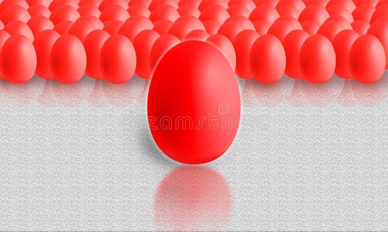 Красочные пасхальные яйца иллюстрация штока