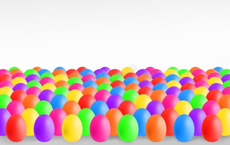Красочные пасхальные яйца с copyspace стоковые изображения rf
