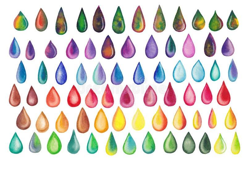 Красочные падения радуги иллюстрация вектора