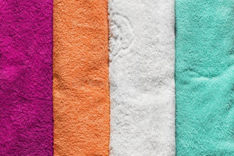 Красочные полотенца Terry стоковые изображения rf