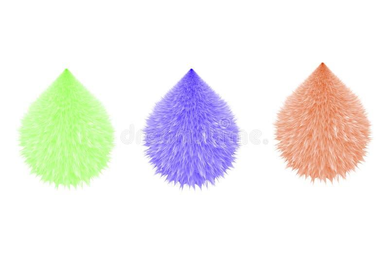 Красочные пушистые помпоны Меховые шарики r иллюстрация вектора