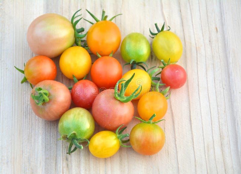 Красочные различные томаты вишни стоковые фотографии rf