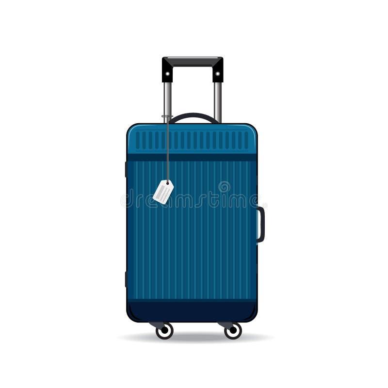 Красочные реалистические чемоданы перемещения, случаи, сумки для багажа, на колесах иллюстрация штока