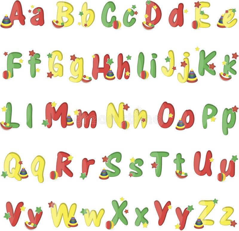 Красочные другие цвета английского алфавита на белой предпосылке бесплатная иллюстрация