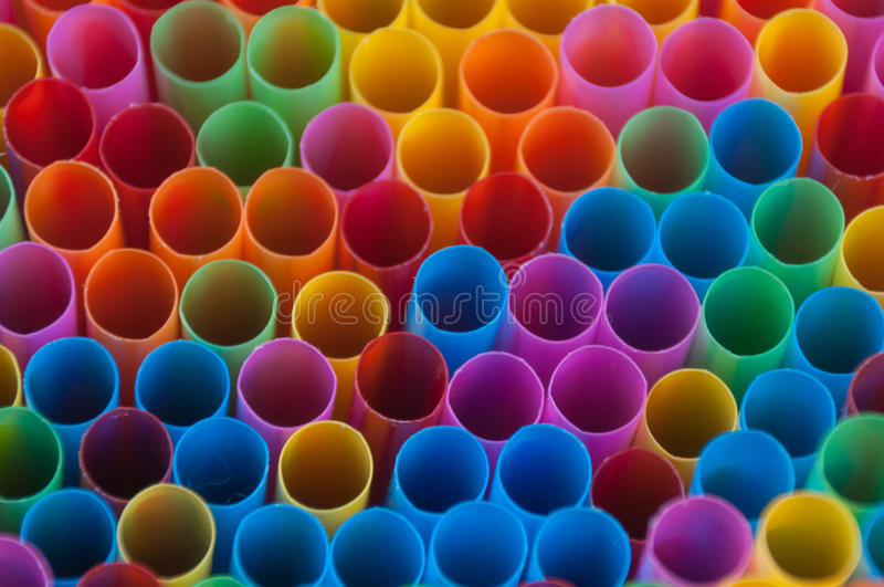 Красочные соломы питья стоковое фото