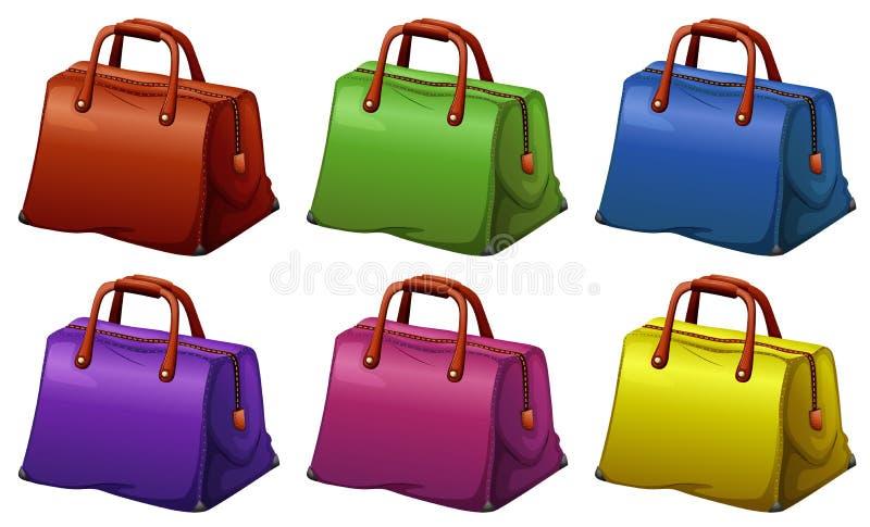 Красочные сумки иллюстрация вектора