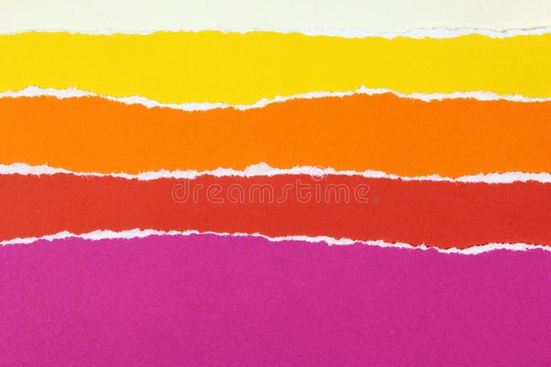 Красочные слои сорванной бумаги стоковое фото rf