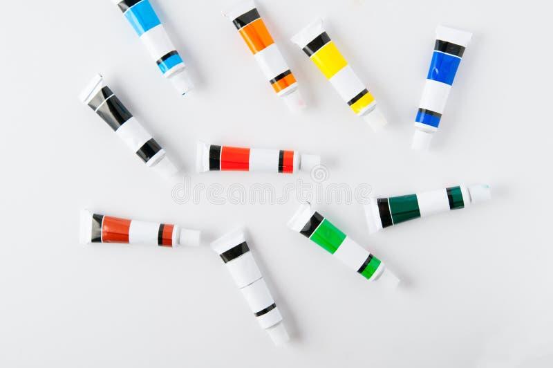 Красочные трубки краски стоковые изображения