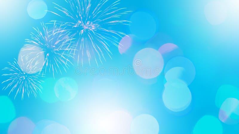Красочные фейерверки на предпосылке bokeh стоковое фото rf