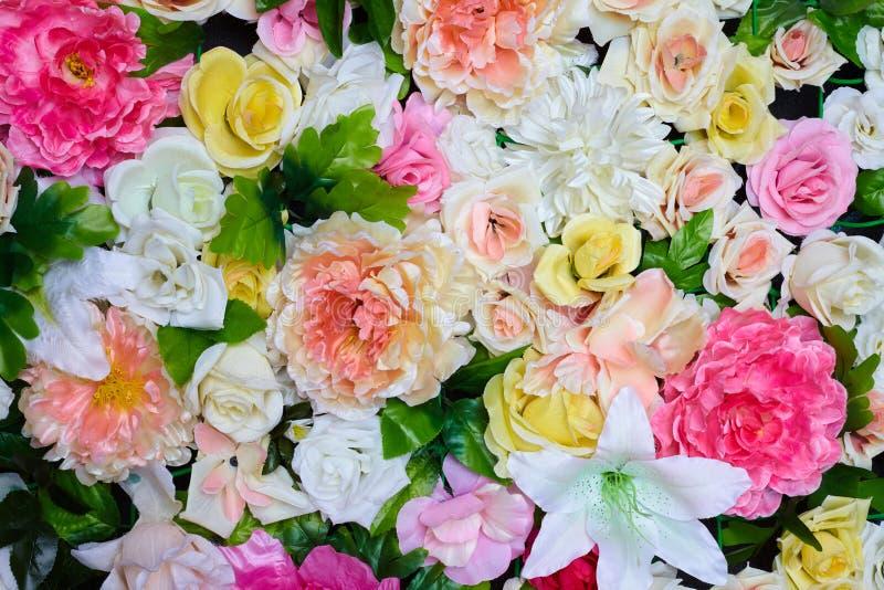 Красочные цветки ткани близко вверх стоковые изображения rf