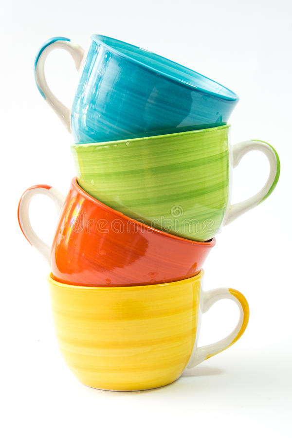 Красочные чашки стоковая фотография