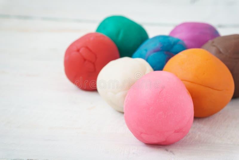 Красочные шарики playdough стоковое фото rf