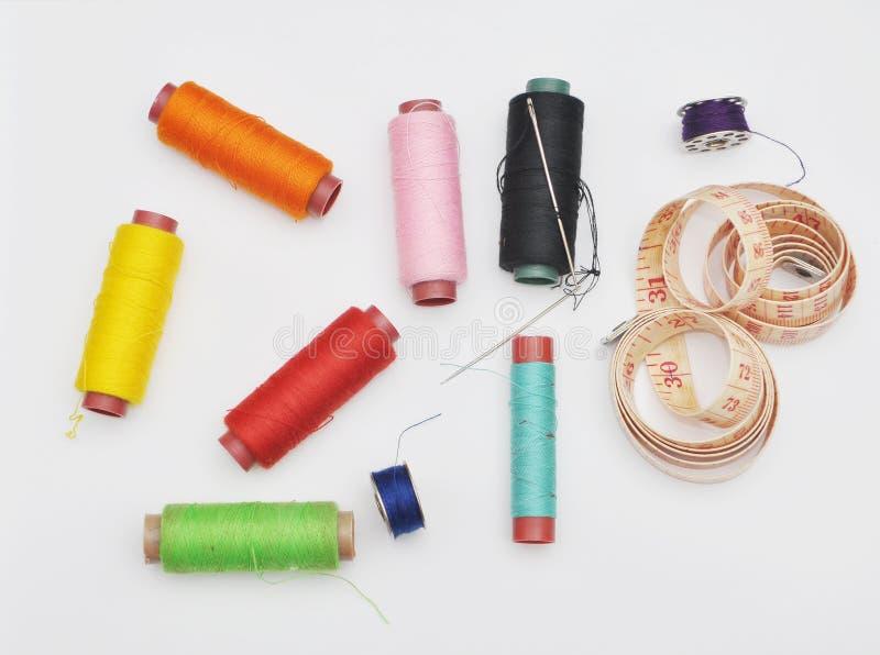 Красочные шить инструменты стоковое фото rf