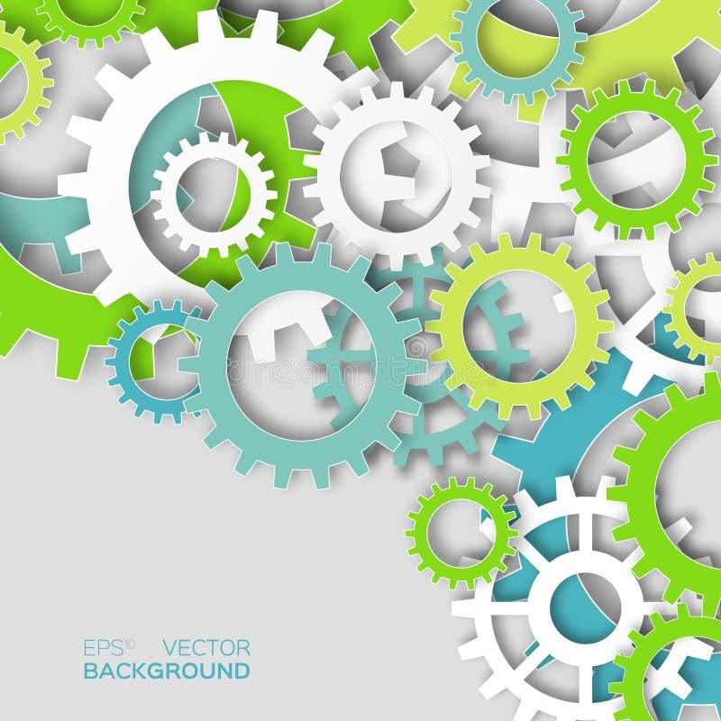 Красочные cogwheels системы механизма бесплатная иллюстрация